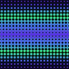 Halftones Blue/Green