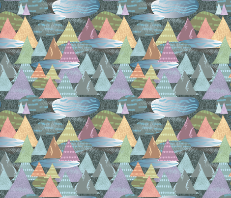 Shapes of the Earth, by Susanne Mason fabric by susanne_mason_ on Spoonflower - custom fabric