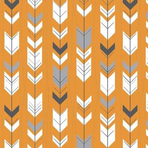 Arrows - pumpkin and grey