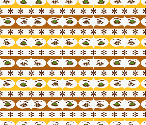 THE EYES HAVE IT Earthy fabric by blue_platypus_fabrics on Spoonflower - custom fabric