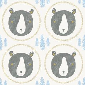 sleepy bear gray