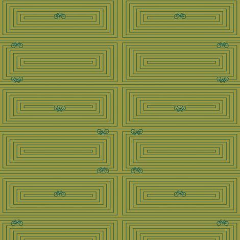 Modern Frontier Bike Maze fabric by agregorydesigns on Spoonflower - custom fabric