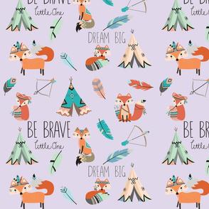 Brave little fox- on lavender