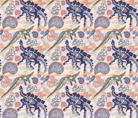 The hidden treasures of the Earth fabric by talanaart on Spoonflower - custom fabric