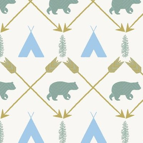 bear camp stripe blue