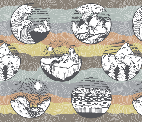 Elements of Erosion fabric by nixels on Spoonflower - custom fabric