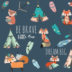 Brave little fox- on slate