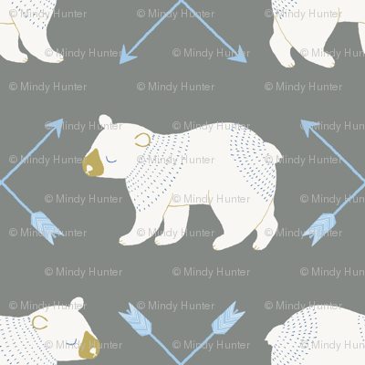 bears and arrows gray
