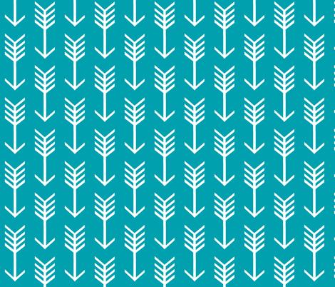 Aqua Arrow fabric by sewluvin on Spoonflower - custom fabric