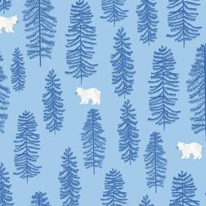 little bear forest blue
