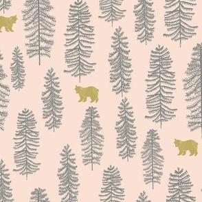 little bear forest pink