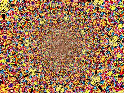 Spiral sprinkle damask