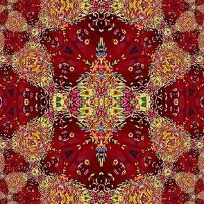 Spiral sprinkles damask Red