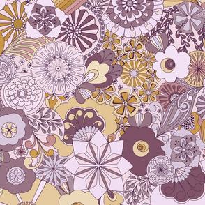 70s Flowers - Purple