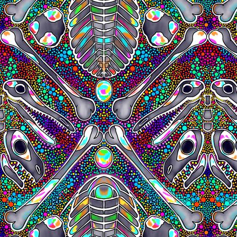 opalized fossils fabric by beesocks on Spoonflower - custom fabric