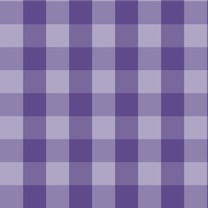 Large Purple Check: Violet Purple Check Deep