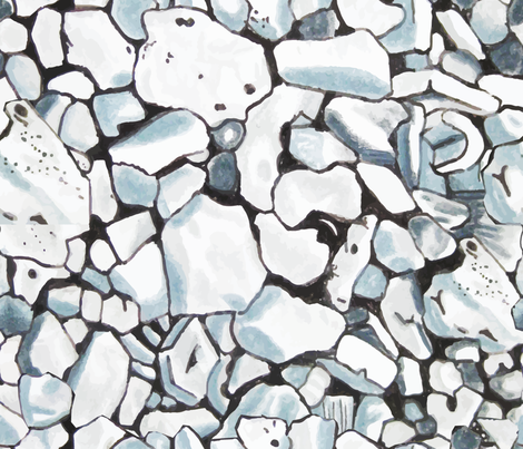 Blue Rock Tumble fabric by draink on Spoonflower - custom fabric