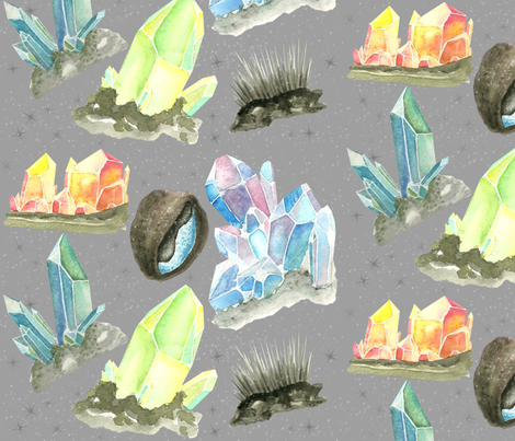 Cave Crystals fabric by acacia7 on Spoonflower - custom fabric