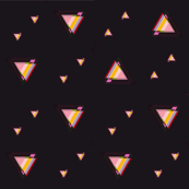 Black and Pink Triangles