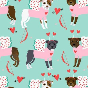 pitbull love bug (larger scale) cupid dog breed fabric