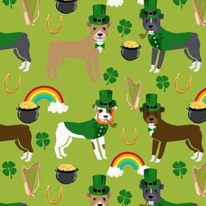 pitbull leprechaun (larger scale) dog breed fabric