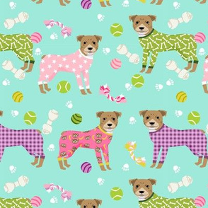 pitbulls pjs (larger scale) dog breed fabric