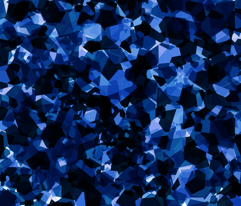 Raw Sapphire Druzy fabric by peartreetrail on Spoonflower - custom fabric