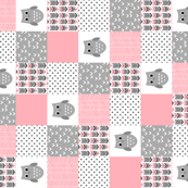 Pink Grey Owls