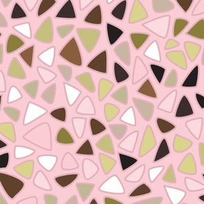70s Flowers - Pink - Triangles Coordinate-02