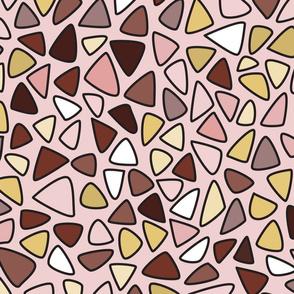 70s Flowers - Purple - Triangles Coordinate-02