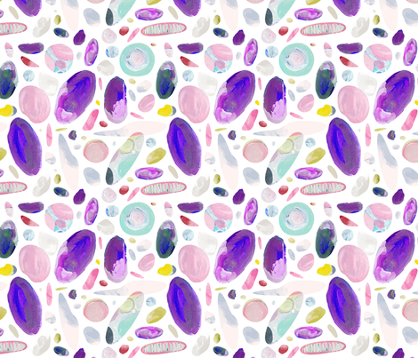 Australian Opals and Gems by Mount Vic and Me fabric by mountvicandme on Spoonflower - custom fabric