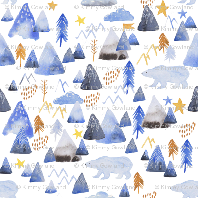 mountains and polar bears