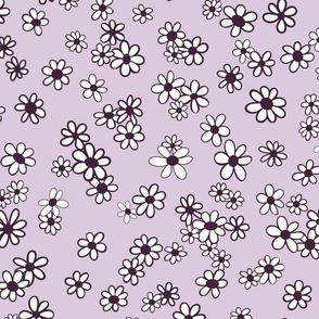 70s Flowers - Purple - Mini Daisy Coordinate-02