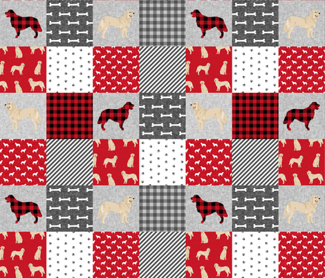 golden retriever pet quilt a cheater wholecloth dog breed fabric fabric by petfriendly on Spoonflower - custom fabric