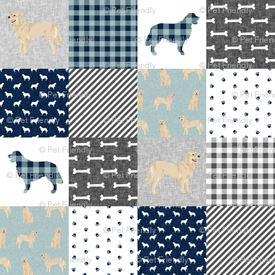 golden retriever pet quilt b cheater wholecloth dog breed fabric