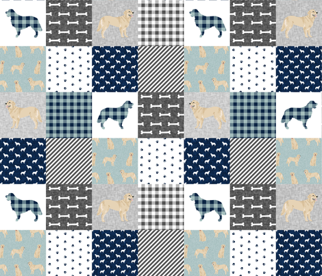 golden retriever pet quilt b cheater wholecloth dog breed fabric fabric by petfriendly on Spoonflower - custom fabric