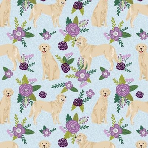 golden retriever pet quilt c cheater collection floral dog breed fabric
