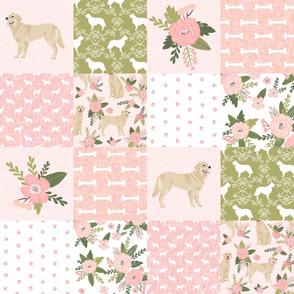 golden retriever pet quilt d cheater wholecloth dog breed fabric
