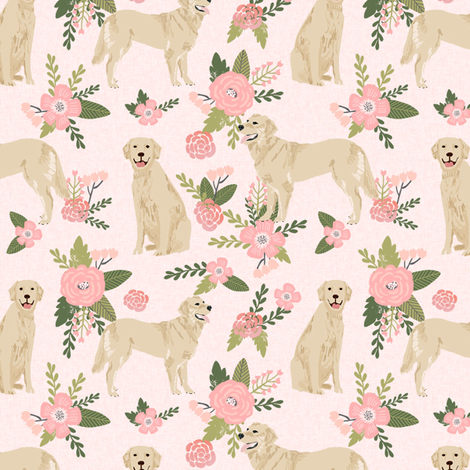 golden retriever pet quilt d cheater collection floral dog breed fabric fabric by petfriendly on Spoonflower - custom fabric