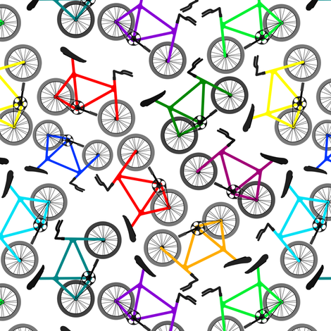 Bikes 2 fabric by jadegordon on Spoonflower - custom fabric