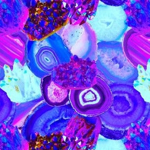 Electric Gems + Geodes in Orchid