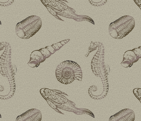 Fossils fabric by diseminger on Spoonflower - custom fabric