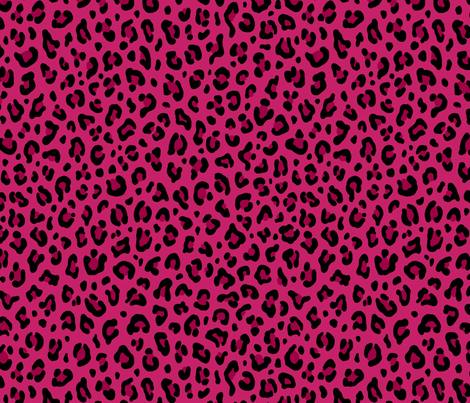★ LOVE LEOPARD – LEOPARD PRINT in HOT PINK ★ Medium Scale / Collection : Leopard spots – Punk Rock Animal Print fabric by borderlines on Spoonflower - custom fabric