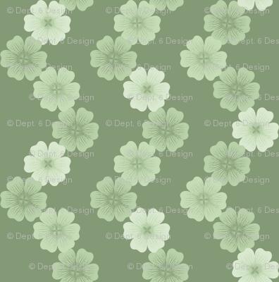 Cranesbill Chain: Moss Green Geraniums