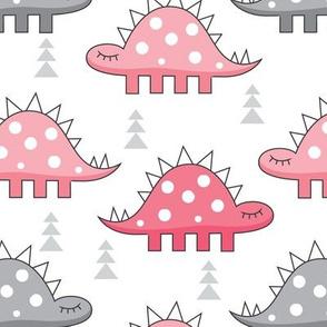 pink stegosaurus dinos