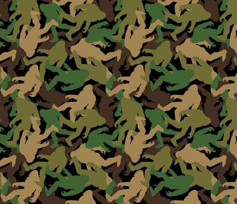 Bigfoot Camouflage - Medium fabric by mariafaithgarcia on Spoonflower - custom fabric