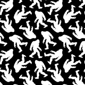 Bigfoot Silhouettes - Black and White