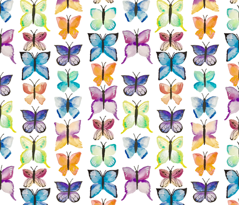 butterfly repeat-01 fabric by lovestrong on Spoonflower - custom fabric