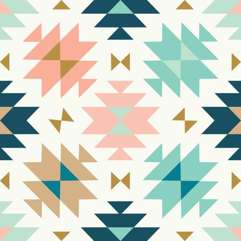 tribal kilim light fabric by littlefoxhill on Spoonflower - custom fabric