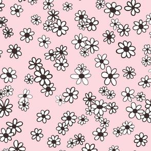 70s Flowers - Pink - Mini Daisy Coordinate-02